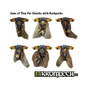 Sons of Thor Fur Cloaks with Backpacks (6) -Kromlech- Space Wolf Wolves Squad