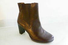 100% Leather Wide (E) Cuban Heel Boots for Women