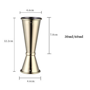 Stainless Steel Jigger Double Drink Spirit Measuring Cups For Cocktail Bar Party