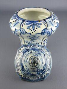 Antique Vase Majolica Italian Decoration Blue Savona Period XVIII Century