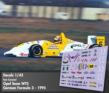 Decals 1/43 - F3 - Tom Coronel - Dallara Opel F395 - German F3 1995