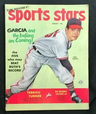 SPORTS STARS - August 1952  MIKE GARCIA Indians / Stan Musial / Charles Atlas Ad