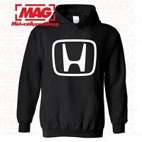 HONDA LOGO IN WHITE HOODIE BLACK Racing Motocross CBR Hooded Sweatshirt OEM