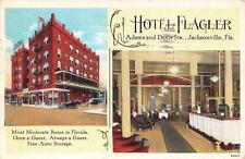 JACKSONVILLE, FL  Florida    HOTEL FLAGLER  Multi View/Interior    1927 Postcard