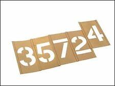 """Stencils Set Of Brass verrouillage Stencils 1"""" chiffres élevés Numéros 0 - 9"""