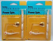 2pcs Berkley Power Spin Bait Spinner Bait Skirt Bass Fishing Lure 1/4oz White