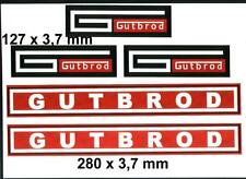 Gutbrod Schriftzug Aufkleber 5 teilig Traktor 1040,vielleicht auch 1030? 1050?