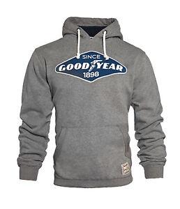 GoodYear Premium Hoodie Grey Sweatshirt EL DORADO Auto Biker Kapuzenpulli SMALL