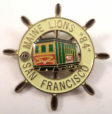 Lions Club Collectors Pin Maine Lions 1984 San Francisco Trolly Nautical Wheel