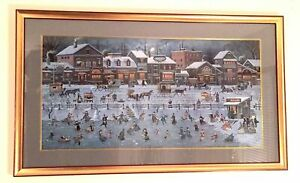 Charles Wysocki Signed Lithograph Bostonian Beans 408 of 6711 Framed Matted