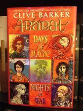 Clive Barker Signed Abarat 2 Days of Magic Nights of War 1st Ed. HC