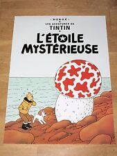 TINTIN POSTER EXTRA GROSS - L´ÉTOILE MYSTÉRIEUSE / PILZ 93 x 67 cm TIM & STRUPPI