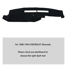 Fits for CHEVROLET Silverado 1988-1994 Truck Dashmat Dash Cover Mat Set Black
