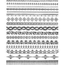 Tim Holtz Cling Rubber Stamps - Ornate Trims CMS326