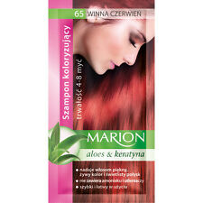 Buy 2 Get 1 MARION Hair Color Shampoo Lasting 4-8 Washes No Ammonia 65. Red Wine