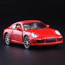 Red 1:35 Scale Porsche Carrera S 911 Diecast Model Car 1/35 PullBack Door Open