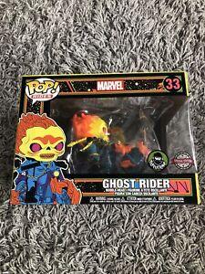 Funko Pop Rides Marvel Ghost Rider Black Light 33 Melted Insert Damaged Figure