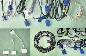 Lot of Computer Monitor Cables + Adapters: DVI, HDMI, VGA