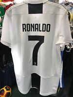 adidas Men s Juventus (Cristiano Ronaldo 7) 2018 Stadium Soccer Jersey Size  M abac2b708bdfc
