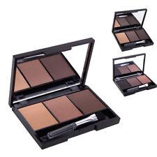 3 Colors Eye Shadow Palette Eyebrow Powder Smoky Waterproof Makeup Cosmetic Gift