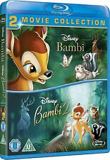 Bambi & Bambi 2: 2-Movie Collection [Blu-ray Movie, Region Free, 2-Disc] NEW