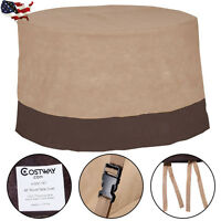 """Outdoor 48"""" Large Waterproof Patio Round Table Cover Furniture Protection US"""