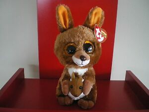Ty Beanie Boos KIPPER KANGAROO 6 inch NWMT. NEW WITH JOEY IN THE POUCH.