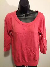 Banana Republic Sweater sz SM Salmon Color cotton/nylon/angora rabbit hair Warm