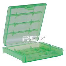 Caja Almacenado Blister Plástico Estuche Verde para Pilas AA b04