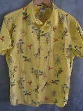 Hang Ten Angry Tiki Hawaiian Shirt Size Large