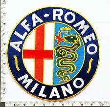"Big Jumbo Large ALFA ROMEO Motorsport 10"" sew Iron On Embroidery Applique Patch"