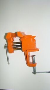 "PONY 3"" Bench Vise No.13025 Clamp-On Style Craft Vise Standard PONY Color Orange"