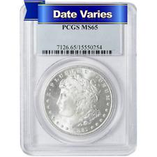 1878 to 1904 $1 Morgan Silver Dollar PCGS MS65 Random Year