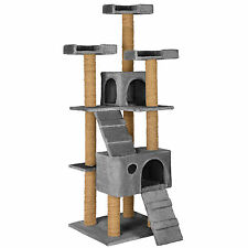 Rascador para gatos Árbol arañar juguetes 169 cm de altura gris