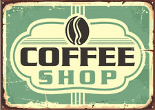 COFFEE SHOP VINTAGE METAL SIGN, RETRO PLAQUE, CAFE ART, FAST FOOD DINER