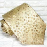 Krawatte bronze - gold blumen seide Jacquard Made in Italy  hochzeit / business