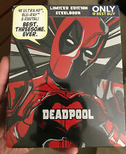 Deadpool 4K UHD + Blu-Ray + Digital HD Steelbook Exclusive New Marvel Sealed