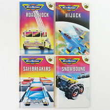 Micro Machines Buzz Books Set of 4, Road Block, Hijack, Safe Breakers, Snowbound