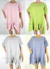 Unbranded Linen Short Sleeve Tops & Shirts for Women