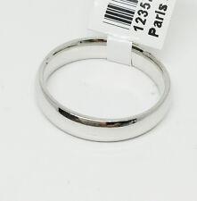 14K White Gold Wedding Band, Ring Size 7, 4 mm, 4 Grams