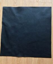 15x15cm Black Leather Remnants off Cut Pebble Grain Soft Cowhide 2.5mm Thick