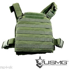 USMG Spartan Plate Carrier Paintball Airsoft Hunting Molle/Webbing System Vest