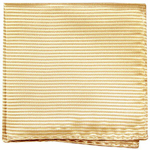 New polyester woven thin striped pocket square hankie handkerchief ivory formal