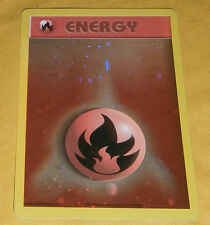 POKEMON PROMO CARD - FIRE ENERGY HOLOFOIL (2002)