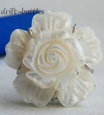 8# 30MM White Sea Shell Adjustable Ring