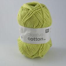 Rico Creative Cotton DK - 100% Cotton Knitting & Crochet Yarn - Pistachio 016