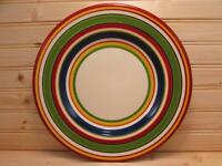 Lasamba by Tabletops Unlimited Dinner Plate Various Color Bands Red Trim L140