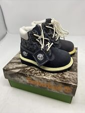 Vintage Timberland Toddler Boots 19819 Navy Panel New Size 5.5 New Old Stock!