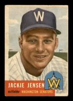 1953 Topps Set Break # 265 Jackie Jensen VG-EX *OBGcards*