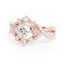 Women Finger Rings Elegant Zircon Rose Gold Crystal Rings Band Jewelry Rings SH